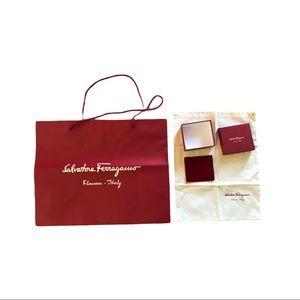 Ferragamo Paper Bag, Dust bag and Box